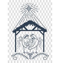 bible scene christmas background vector image