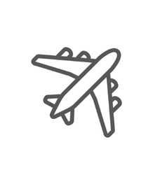 Black plane outline vector image