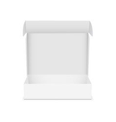 Box with open lid isolated vector