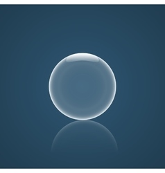Bubble Icon with reflection vector image
