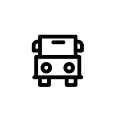 bus transportation icon vector image