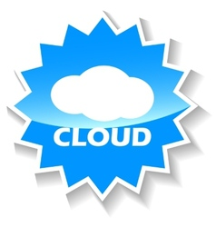 Cloud blue icon vector image