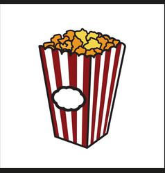 color sketch popcorn vector image