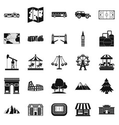Community icons set simple style vector