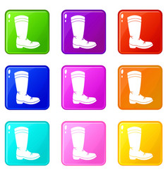 Cowboy boot set 9 vector