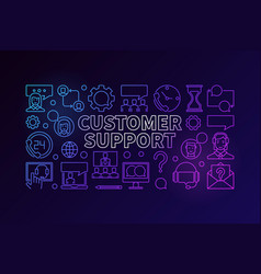 Customer support colorful vector