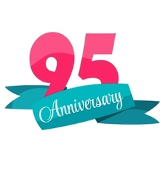 Cute Template 95 Years Anniversary Sign vector