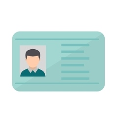Driving national standard license flat vector image