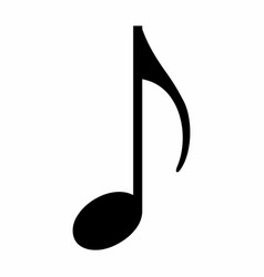Eighth music note icon vector