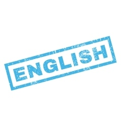 English Rubber Stamp vector
