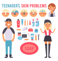facial care skin problems clean vector image