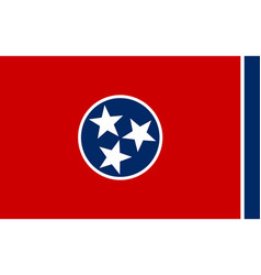 Flag tennessee as vector