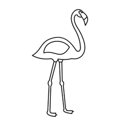 Flamingo bird icon outline style vector image