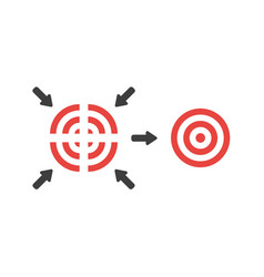 Flat design concept four part bulls eye vector