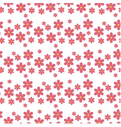 Floral pattern seamless with flowers gentle vector