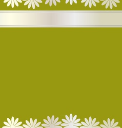 Flowers card background vector