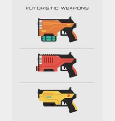 Futuristic gun vector
