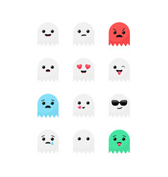 Ghost emojis vector