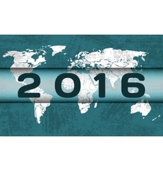 Global celebration of new year vector image