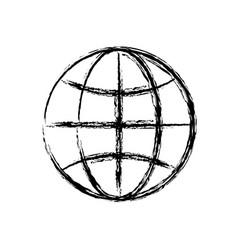 Global sphere icon vector