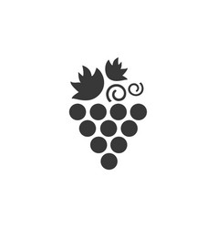 grapes isolated icon fall fruits and food vector image