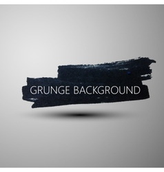 Grunge marker stain banner brushed ink texture vector image