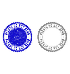 Grunge please do not bend scratched watermarks vector