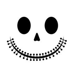 Halloween skeleton smile vector