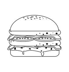 Hamburger fast food icon image vector