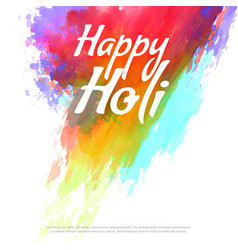 Happy holi colorful splash background vector