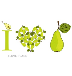i love pears vector image