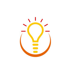 idea creative light bulb logo vector image