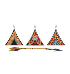 indian wigwams vector image