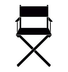 Isolated director chair vector