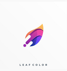 leaf colorful design template vector image