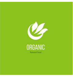 leaves logo for organic product vector image