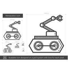 manipulator line icon vector image