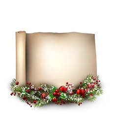 Merry christmas scroll background vector
