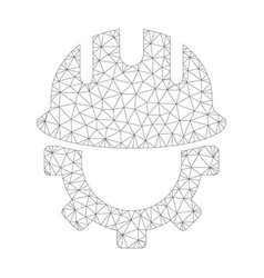 Mesh development hardhat icon vector