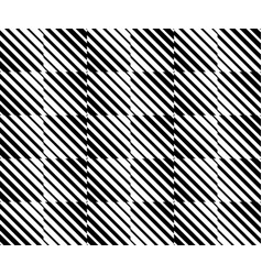 Mosaic pattern with diagonal lines stripes vector