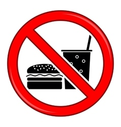 No Food Allowed Symbol Prohibition Sign vector