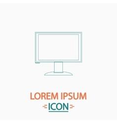 PC monitor computer symbol vector