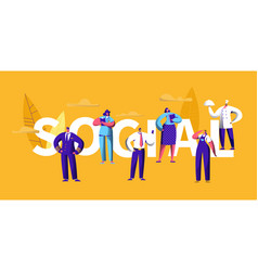People social media career occupation banner vector