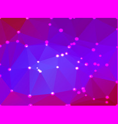 pink purple blue geometric background with lights vector image