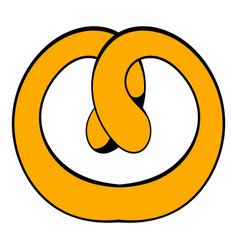 pretzel icon cartoon vector image