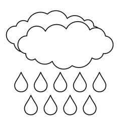 Rain icon outline style vector