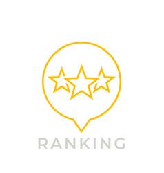 Ranking icon on white vector
