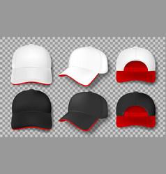 realistic baseball cap mockup isolated white vector image