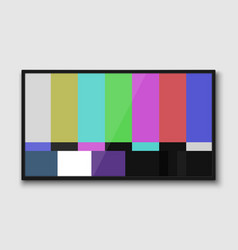 Realistic tv screen vector