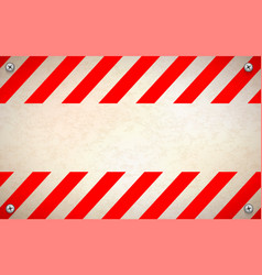 red and white blank warning sign template with vector image